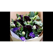 Black Color Calla Lily Bouquet