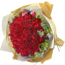 99 Rose Bouquet Love You Forever